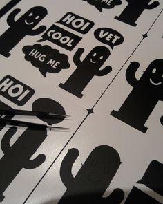 Stickervellen met cactussen speciaal ontworpen en gemaakt voor in een kinder goodiebag. Blitsbedrukt kan ook stickers naar wens maken!