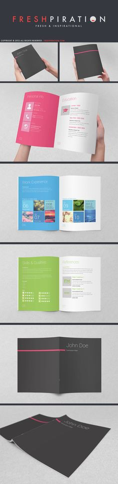 Metro Inspired Clean Resume Booklet (8 Pages) by SemihYilmaz.deviantart.com on @deviantART