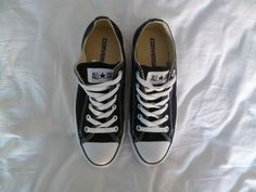 Black | Converse All Stars | via: expensivelife™