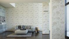 Schöner Wohnen Tapete 227812; simuliert auf der Wand