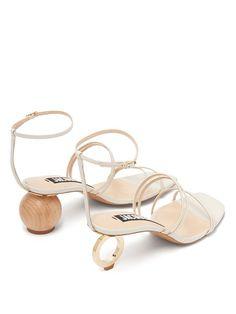 Jacquemus Bachata ornamental heel sandals