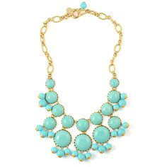 Dabney Bib Necklace in Turquoise by Loren Hope