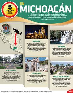 Si tienes planes de ir a Michoacán te decimos de 5 lugares que no puedes dejar de visitar en este estado. #InfografíaNTX Mexico Tourism, Mexico Travel, Cultura General Mexico, Cool Places To Visit, Places To Go, Western Caribbean, Mexico Art, Mexican Artists, Exotic Places