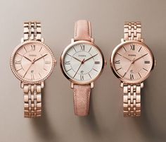 9c4f99eaeb4 Jacqueline Watch from Fossil. I love the band on the center watch! Watches  Women