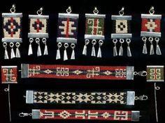 Sterling Silver and macramé jewels hand made Inkle Weaving, Inkle Loom, Card Weaving, Tablet Weaving, Macrame Necklace, Macrame Jewelry, Jewelry Art, Weaving Textiles, Tapestry Weaving