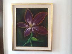 "Oleo ""flor violeta """