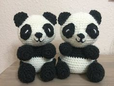"amigurumi toy ""Sweet Panda"" (bear). Master Class. 