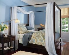 "Bed With A Canopy farmhouse canopy bed from pottery barn. ""canopy"" from two"