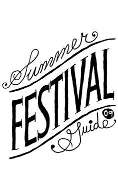 hand drawn type for festival by nate williams