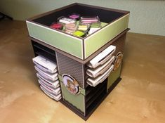 Inkpad-Storage by floral-frame - Cards and Paper Crafts at Splitcoaststampers Organization Ideas, Storage Ideas, Organizing, Crafty Fox, Stationery Items, Stamp Pad, Craft Room Storage, Tim Holtz, Craft Tutorials