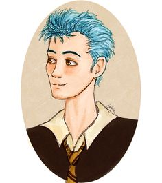 Hufflepuff Head Boy #teddy lupin #harry potter fanart #next gen  by I g l a r i s  gif