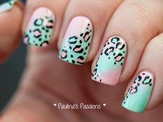Top 50 Styles for Animal Print Nail - Reny styles Leopard Nail Designs, Leopard Print Nails, Diy Nail Designs, Diy Nails, Manicure, Glitter Chevron, Pretty Nail Art, Nail Brushes, 50 Fashion