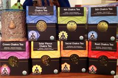 """New product review on The """"V"""" Word: Chakra Teas by Buddha Teas. These herbal  teas are made with herbs that correspond to the chakras and are infused with healing crystals!   http://thevword.net/2015/01/product-review-buddha-teas-chakra-tea-blends.html"""