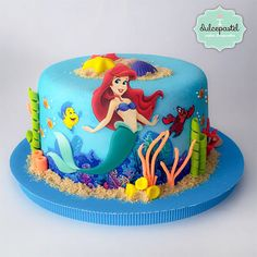 Torta Sirenita The Little Mermaid Cake By Giovanna Carrillo