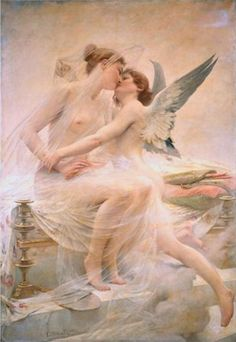 Cupid and Psyche, by Lionel Royer, 1893.