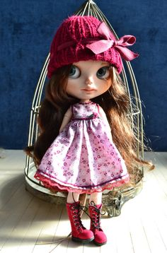Handmade linen dress for Blythe and Pullip outfit