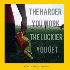 """The harder you work the luckier you get! #sportsbarker #motivation #motivationalquotes #sportsquote #inspiration #inspirationalquote #instagood #instamessage"" Photo taken by @sportsbarker on Instagram, pinned via the InstaPin iOS App! http://www.instapinapp.com (11/20/2015)"