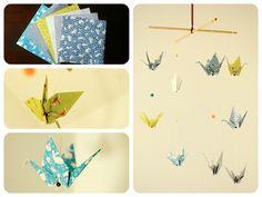 """Mobile origami grues """"Titouan"""""""