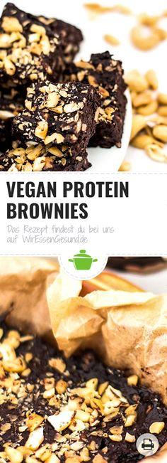 Vegane Protein Brownies | Wer sich darauf einlässt beim Backen neu zu denken, der braucht trotz strenger Fitness-Diät nicht mehr auf leckere Brownies verzichten. www.wir-essen-gesund.de/vegan-protein-brownies/