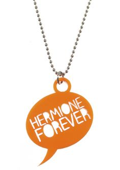 Oh, Hermione. You're smart, you take risks, you're brave and you're just about the best friend anybody could ever ask for. Show your undying love for Hermione in our laser cut acrylic speech bubble, in length. Undying Love, Laser Cut Acrylic, Cool Necklaces, Hermione, Dog Tag Necklace, Brave, Bubble, Jewelry, Jewellery Making