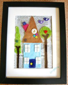 ✄ A Fondness for Felt ✄ DIY craft inspiration - Felt House