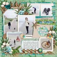 Template universal album 6: All Year Long by Cindy Schneider. Take it easy by KCB.