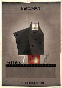 O cinema tem um lugar especial no mundo do ilustrador Federico Babina, que resolveu criar cartazes que retratam como seria a arquitetura da casa de diretores famosos. As casas tem estética baseada nos filmes de Alfred Hitchcock, Charlie Chaplin, W...