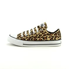 Leopard Print Converse All Star Lo Athletic Shoe- I want these so bad! Prolly need a size 10.