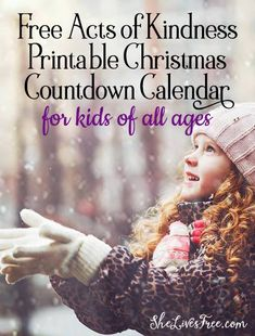 Grab your fun & easy FREE acts of kindness printable Christmas countdown calendar! You'll find two different versions for two different ways to print and implement that even the smallest of children can be be a part of too!