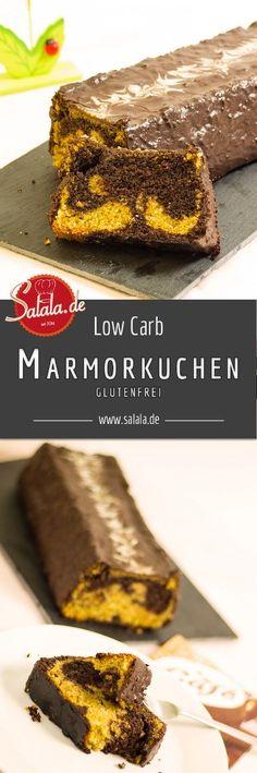 Super saftiger Low Carb Marmorkuchen ohne Mehl und ohne Zucker. Schön einfach nachzumachen und total schnell erledigt - mit Gelinggarantie! - salala.de