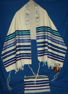 Luminous, luxurious colors are the Bnai Or talis' trademark. Joseph's Coat of Many Colors.