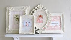 Vintage  picture  frames painted. Make for Ruby's Room.