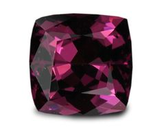 Rhodolite 110807: 2.48 Carats Natural Mozambique Rhodolite Garnet Loose Gemstone - Square Cushion BUY IT NOW ONLY: $350.0