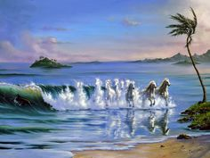 """Galloping Waves"" - art by Jim Warrren"