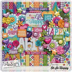 Oh So Happy   Bella Gypsy Designs Digital Scrapbooking Kit