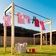 Clothesline Move Brilliant Fence Clothesline Takes Up No Space When Not In Use  Doing This
