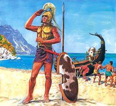 Greek warrior, Mycenaean era