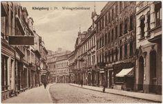 Königsberg i. Pr. - Weissgerberstrasse, s./w. Ansichtskarte ungebraucht um 1920