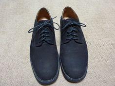 4fd547e54f8 H.S.TRASK Colter Creek Men s Lace-Up BLACK Nubuck Leather Derbys Shoes SIZE  11 W