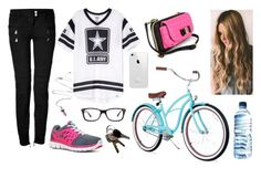"""""""Me Today Ridding My Bike"""" by marsophie ❤ liked on Polyvore featuring Balmain, NIKE and Ray-Ban"""