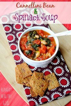 Cannellini Bean and Spinach Soup- A vegan soup with a wonderfully delicious taste.  Freezer-friendly