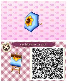 Sun Blossom Umbrella by Quirkberry - Animal Crossing: New Leaf