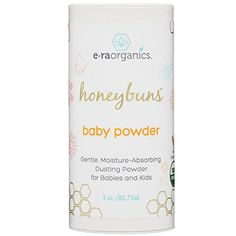 Talc Free Baby Powder 3oz USDA Certified Organic Dusting Powder by Honeybuns NonGMO Cruelty Free Natural and Organic Baby Products