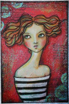 Pennystamper: My Painted Ladies - Angela Kennedy