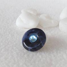 """Magnetbrosche Edelstein Sodalith Swarovski """"Aquamarin"""" Swarovski, Accessories, Gemstone Beads, Brooch, Gift Crafts, Gems, Handmade, Silver"""