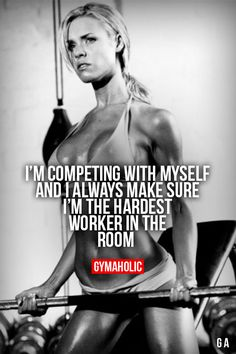 I'm competing with myself...