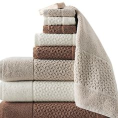 Concierge Collection Jacquard Turkish 9pc Towel Set