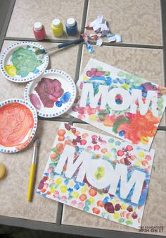 Mother's Day Craft Idea that includes a little fun with primary colors and mixing!  Makes a fun Mother's Day card too.