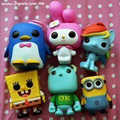1x1.trans Super Kawaii Funko Pop Vinyl Toys  I want to play with some polymer clay and make these figures out of clay