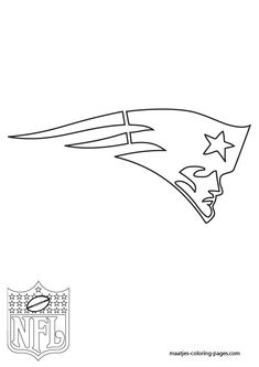 Printable New England Patriots Logo Stencil from